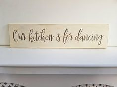 Kitchen Sign, Dancing Sign, Kitchen for Dancing, Wooden Sign, Our Kitchen, Housewarming, Gift For Her, Gift For Him. New Home, Kitchen, Cook by FioreCrafts on Etsy Kitchen Cook, Kitchen Signs, Wooden Signs, Easy Crafts, Gifts For Him, House Warming, Dancing, New Homes, Cooking