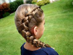 Amazing Braided Ponytail Little Girl Hairstyles And Girl Hairstyles On Hairstyle Inspiration Daily Dogsangcom