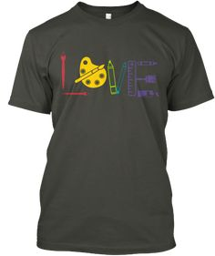 Do you love Art?  Are you an art teacher?  Artist? Graphic Designer?  Patron of the Arts?  This shirt is for you!  Colorful, versatile and all around cute!