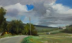 daily painting titled Road to les Baux - click for enlargement