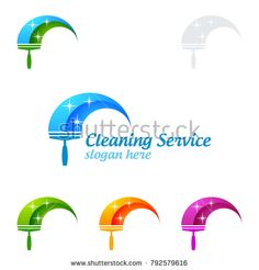 Cleaning Service vector Logo design, Eco Friendly Concept with shiny splash isolated on white Background Cleaning Service Logo, Vector Logo Design, Slogan, Eco Friendly, Royalty Free Stock Photos, Concept