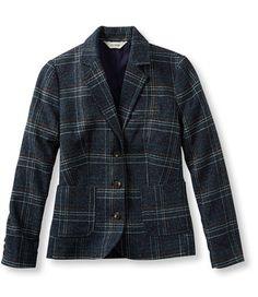 Donegal Tweed Blazer, Plaid: Blazers   Free Shipping at L.L.Bean