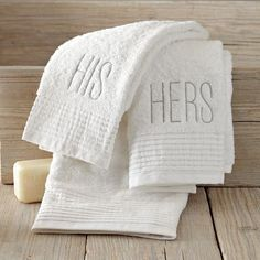 West Elm offers modern furniture and home decor featuring inspiring designs and colors. Create a stylish space with home accessories from West Elm. Monogram Towels, Monogram Shop, Bathroom Accessories, Home Accessories, His And Hers Towels, White Towels, Soft Towels, Hand Towels, Bathroom Storage