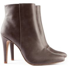 H&M Boots ($43) ❤ liked on Polyvore featuring shoes, boots, boots/booties, grey, обувь, zipper boots, pointed toe boots, narrow boots, high heel boots and pointy toe boots