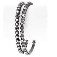 2 Bangles Hematite Rhinestone 2 Piece Hematite Tone Rhinestone Bangles comes in manufacturer's packaging Modele Jewelry Jewelry