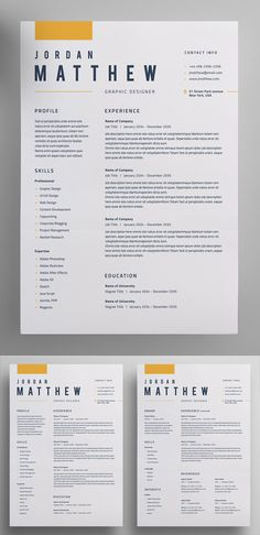 30 Creative Clean CV / Resume Templates with Cover Letters - Resume Template Ideas of Resume Template - Perfect Resume / CV Template Resume Layout, Job Resume, Resume Tips, Basic Resume, Visual Resume, Cv Tips, Business Resume, Resume Ideas, Simple Resume