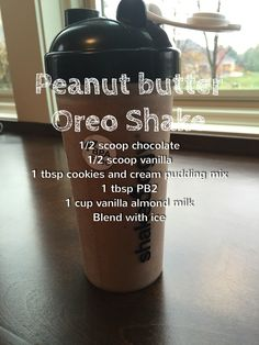 Peanut butter Oreo shakeology - delicious!!- 21 day fix #weightlossmotivation