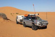 Towing a Tvan with a Toyota Prado