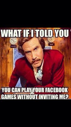 Facebook games.