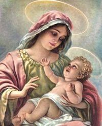 Blessed Mother and Child Jesus