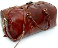 Genuine Italian Leather Holdall / Cabin Bag / Overnight / Hand Luggage 3 Sizes 3 Colours From £199.99 #madeinitaly