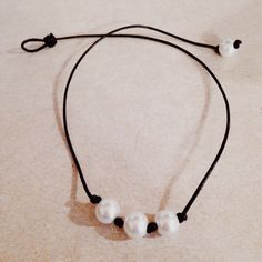 Three Pearl Knotted Choker - Made To Order