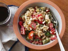 Italian Macaroni Salad with feta and tomatoes