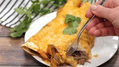 Instant Pot Shredded Beef Enchiladas
