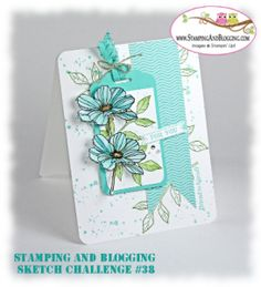 Stampin Up Peaceful Petals card by Sandi @ www.stampingwithsandi.com