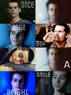 """Once a teenage boy with a bright smile"" Stiles from Teen Wolf, best character on there!!"