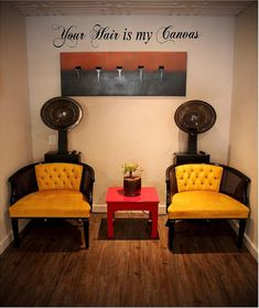 Your Hair is my Canvas 12H x 60W Salon by VinylDesignCreations