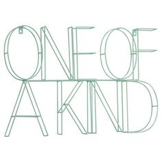 "The One of a Kind Wire Wall Décor spells out in all caps ""ONE OF A KIND"" which would go well over a desk or bed. The 3D sculptural metal sign will really pop when hung on a wall. - Number of Pieces: 1"
