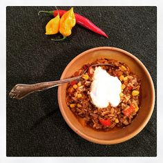 Mexicansk risret. Chili, Pork, Beef, Snacks, Kale Stir Fry, Meat, Appetizers, Chile, Chilis
