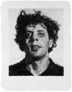visuel.  Two favorite artists in one.   Phillip Glass by Chuck Close