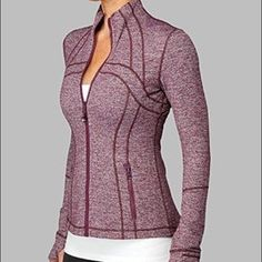 Define Jacket Rare Color: Static Plum. Size 4. Beautiful lululemon jacket. Excellent condition. Never worked out in - no stains or holes (Not looking to trade at this time ) lululemon athletica Jackets & Coats