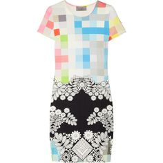 Preen Scuba printed stretch-jersey dress found on Polyvore