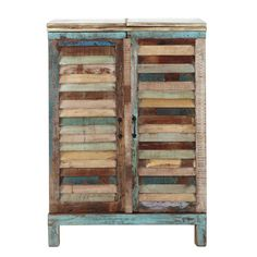 Meuble de bar en bois recyclé multicolore L 75 cm