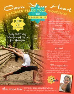 Backbend Bliss Workshop with Rachel - June 2014