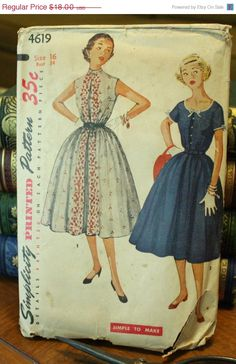 50 Fall Pattern Sale Simplicity 4619 1950s by EleanorMeriwether