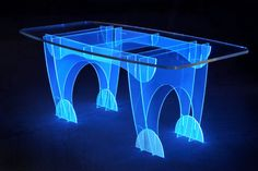 Electric Blue table by Ben Rousseau made with @Lucite Lux®  - enter the 2014 JUST IMAGINE Awards now through 9/15/14!