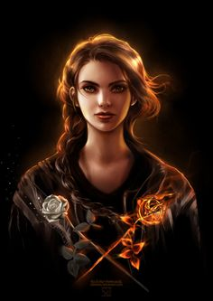 I like that this girl drew her own perception of Katniss instead of Jennifer. And it's beautifully done.
