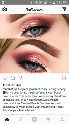 Too faced sweet peach palette look