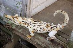 Kalalou Rustic Metal Crocodile