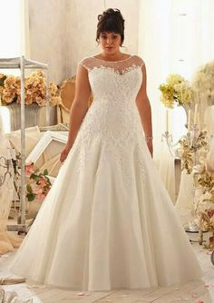 Lace wedding dress for plus size women too gorgeous for words