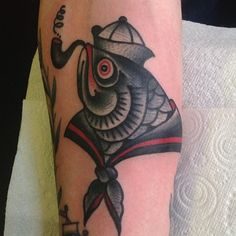 tattoo old school / traditional ink - sailor fish (by Shaun Bailey)