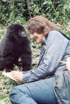 "Dian Fossey ""When you realize the value of all life, you dwell less on what is…"