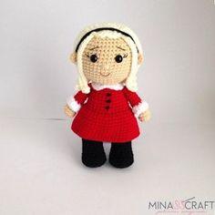 Sabrina the Teenage Eitch Crochet Art, Crochet Patterns Amigurumi, Amigurumi Doll, Crochet Dolls, Christmas Crochet Patterns, Sewing Basics, Half Double Crochet, Yarn Colors, Stuffed Toys Patterns