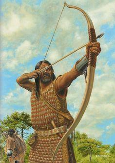A Mittle-Saale Beaker culture archer by Karol Schauer