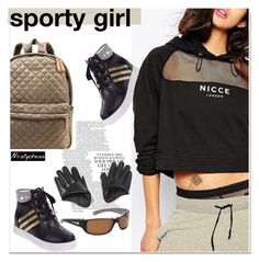"""""""sporty girl"""" by paculi ❤ liked on Polyvore featuring мода, M Z Wallace и nastydress"""