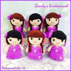 Instagram media by jncrochets - #amigurumi #bride #beautiful #bridetobe #bridesmaid #cute #corsage #crochet #tubedress #purple #diy #dolls #friends #gifts #girls #group #handmade #instaphoto #kawaii #little #lovely #personalised #sisters #special #together #wedding #followme