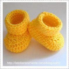 Chaussons jaune