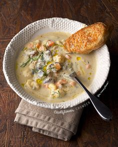 Cauliflower Chowder … warm up with a healthy  luxurious soup!