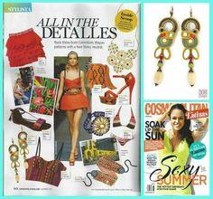 Soak up the sun and have a sexy summer with Dori's Martinique earirngs - as seen in Cosmopolitan for Latinas magazine    Dori Csengeri (DoriCsengeri) on Twitter