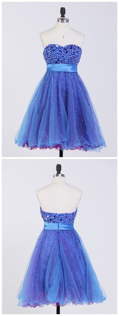 tulle homecoming dress,sweetheart short prom dresses #SIMIBridal #homeocmingdresses