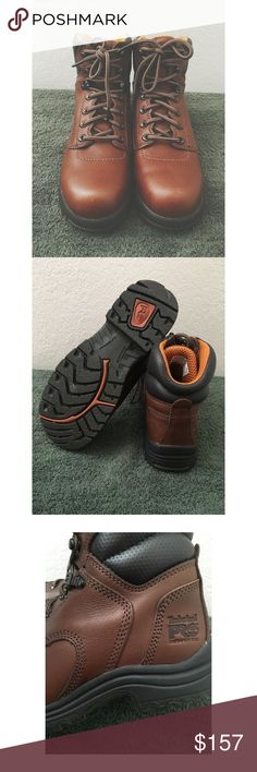 • Pro Timbs Excellent Pro Timbs. Perfect hiking shoes + winter boots. Lovely deep brown. Worn less than 5x through all the elements. Very small scuff as pictured. Size Women's 7.5 and I'm a 8 and these fit perfectly. Timberland Shoes Winter & Rain Boots