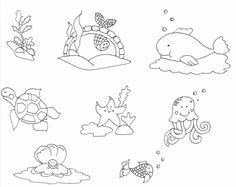 tengeri állatok rajz, drawing sea-animals, coloring page, színező