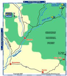 Blue mesa reservoir gunnison fishing map co fishing maps for Colorado fly fishing map