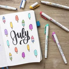 41 Bullet Journal Monthly Cover Ideas You Must Try - Its Claudia G Bullet Journal Simple, Bullet Journal June, Bullet Journal Titles, Bullet Journal Cover Ideas, Bullet Journal Monthly Spread, Bullet Journal Notebook, Bullet Journal Aesthetic, Journal Covers, Bellet Journal