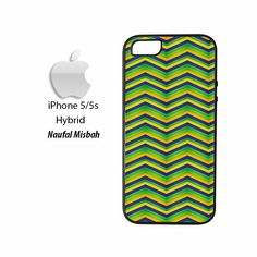 Green Zig Zag Pattern iPhone 5/5s HYBRID Case Cover