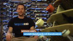 Bayerische Skateboard Decks - Brandmalerei trifft Lifestyle | BR // Werner Härtl hat sich von der Brandmalerei, wie man sie von Brotzeitbrettln kennt, zu etwas Neuem inspirieren lassen. Der 37-Jährige verbindet das alte Handwerk mit jungem, hippen Lifestyle und verziert Skateboard Decks mit der traditionellen Volkskunst.  Bayerischer Rundfunk: http://www.br.de/heimatrauschen Autor: Wige south&browse / BR